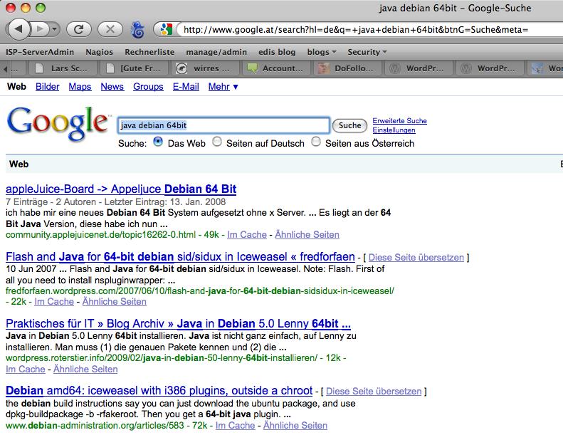 Dritter Platz auf google.at
